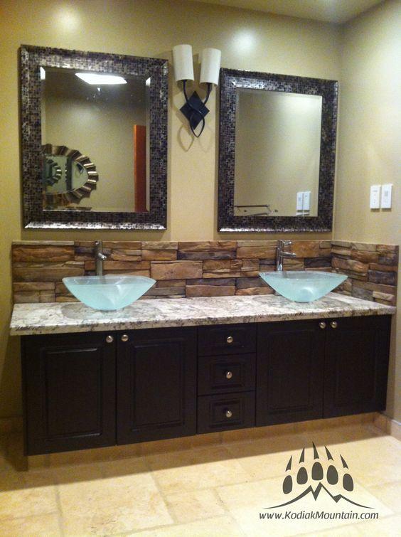 Bathroom back splash kodiak mountain stone frontier for Bathroom decor calgary