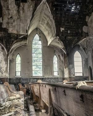 Abandoned church by Dennis McFarland