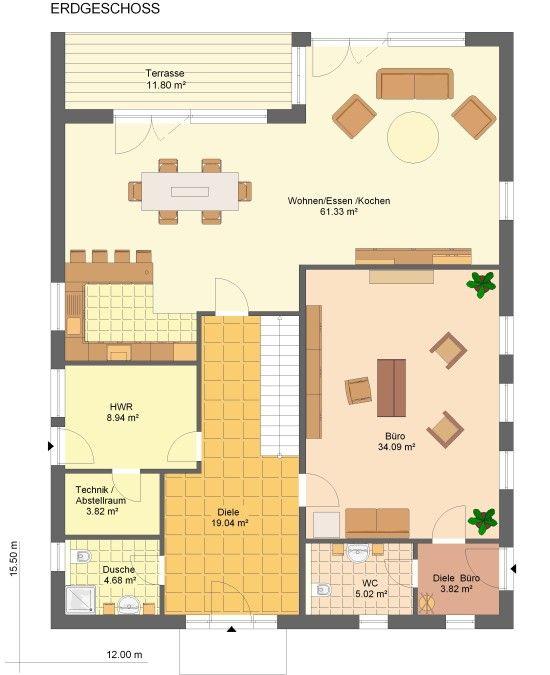 Kowalski bauhaus annabell grundriss erdgeschoss h user for Bauhaus einfamilienhaus grundriss