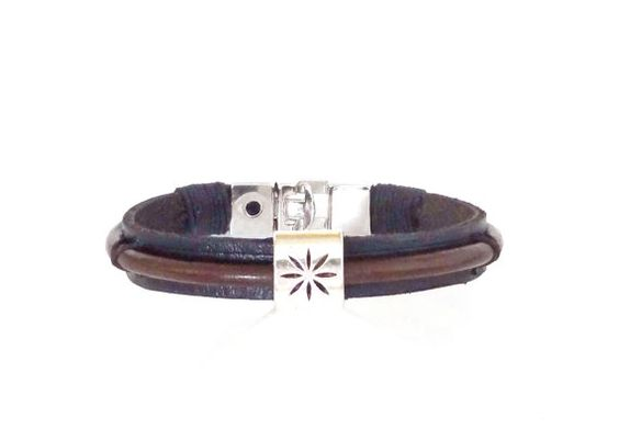 FREE SHIPPING, Black Leather Bracelet, Mens Jewelry, Men's Classic Jewelry, Stylish bracelet, Gift for Him