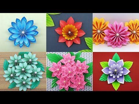 Best 6 Easy Paper Flowers Tutorial Diy Paper Flower Crafts
