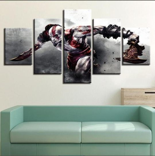 Game God Of War Gaming Full Hd Personalized Customized Canvas Art Wall Art Wall Decor In 2020 Customized Canvas Art Canvas Wall Decor Wall Art Decor