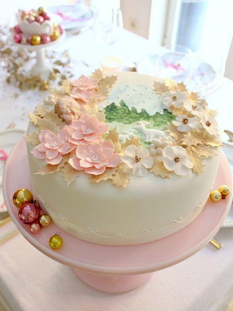 Pretty winter cake.