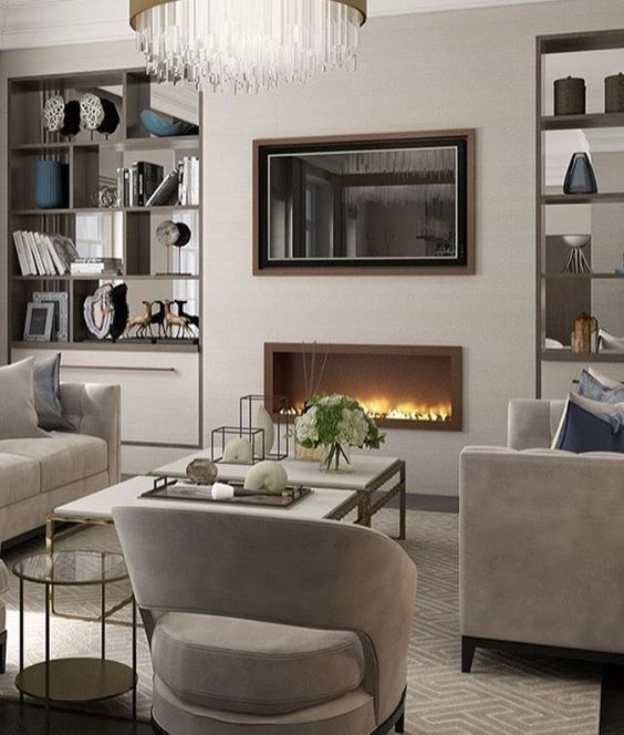 3 Tips To Hang Chandeliers In Your Living Room With Tv House Interior Luxury Living Room Living Room Diy