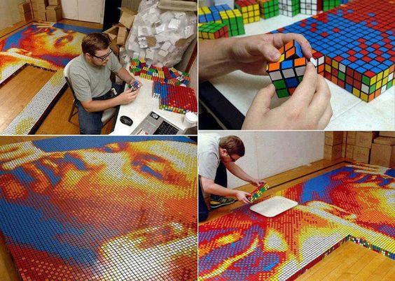 Bem Arranjado: Cubo Mágico - uma composição mágica e temática para decoração