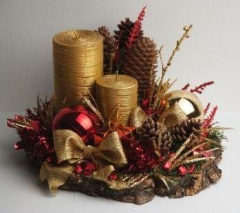 Mesas navidad and holiday on pinterest for Centros de mesa navidenos