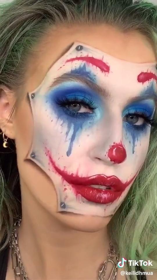 Stop Clowning Around And Just Be One Already Tiktok Pumpkin Halloween Costume Diy Halloween Makeup Clown Amazing Halloween Makeup Halloween Makeup Easy