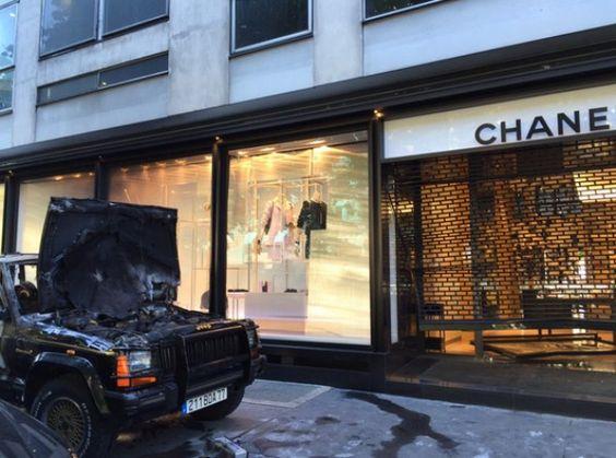 Loja da Chanel é alvo de roubo em Paris (Foto: Reprodução/Twitter)