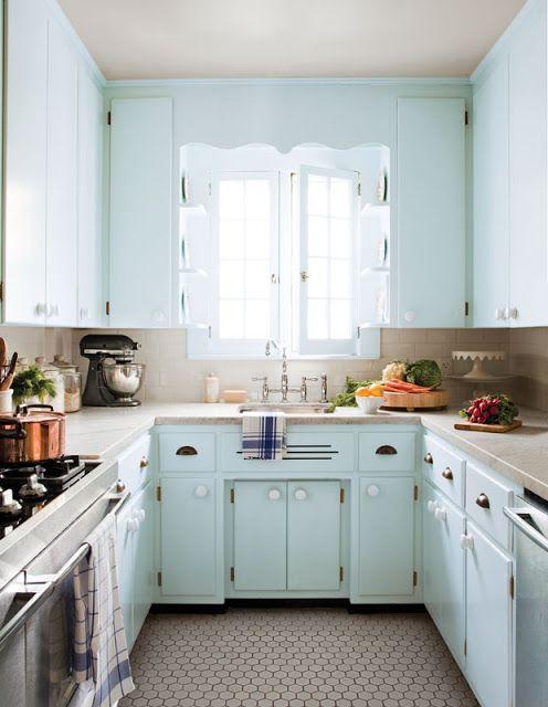 افكار تصاميم مطابخ صغيرة جدا وجملية تثبت ان الحجم لايهم Kitchen Design Small Kitchen Flooring Kitchen Inspirations