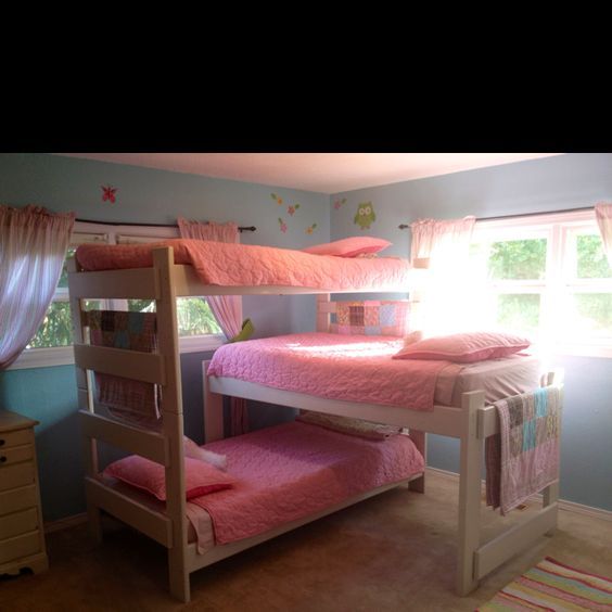 Decorating Ideas > Step Daughters, Girls And Triple Bunk Beds On Pinterest ~ 091823_Dorm Room Ideas For Triples