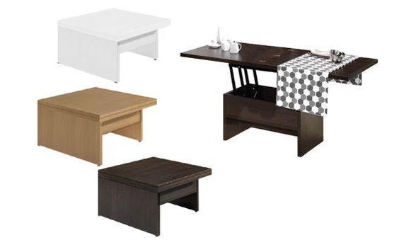 Mesa de centro convertible en mesa comedor muebles en - Mesa centro convertible ...