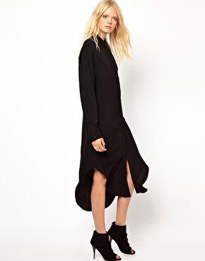 Just Female Long Shirt Dress - outfit inspiration - Pinterest ...