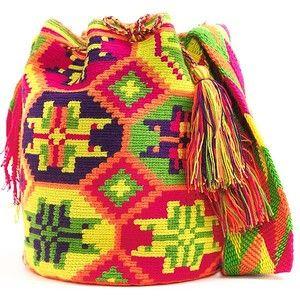 Колумбийская мочила. Вяжем жаккардовую сумку крючком: