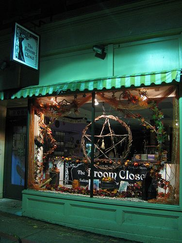 The Broom Closet in Salem Mass. I want to go to Salem and see all there is too see there.