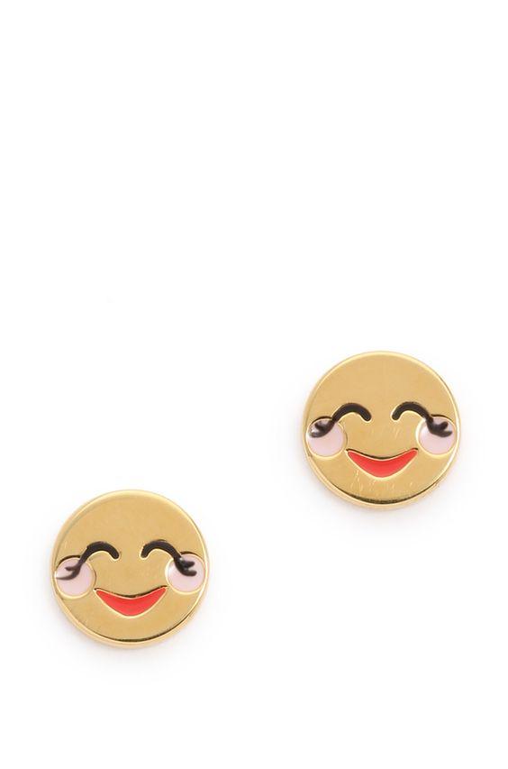Kate Spade New York Blushing Emoji Stud Earrings