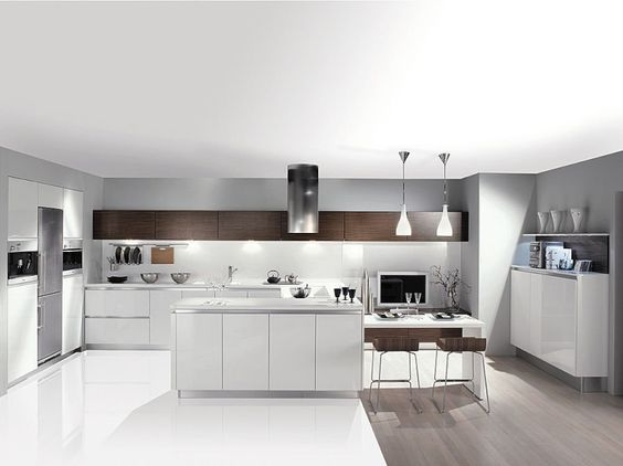 Une cuisine sans meuble haut cuisine for Meuble haut cuisine bois