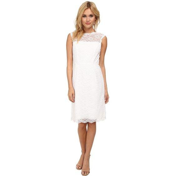 Calvin Klein Womens Lace Sheath CD5L1B6R White - Dresses