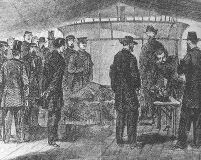 La Autopsia en el Arte: ANÓNIMO. Autopsia de John Wilkies Booth, asesino del Presidente Lincoln (1865)