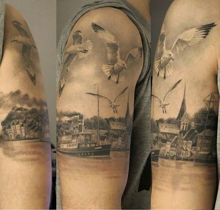 Tattoo-Foto: Flensburger Hafen black/grey