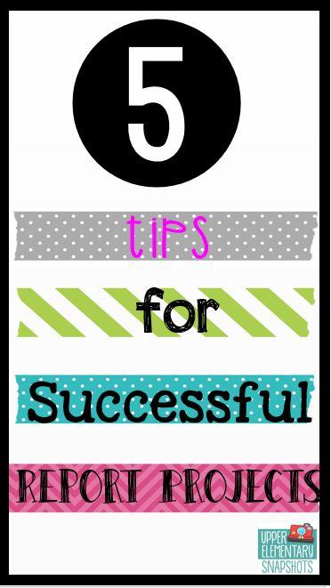 5 Tips for Successful Report Projects - Projecten, Klaslokaal en - project report