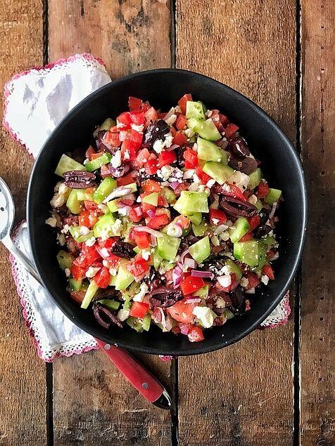 Cucumber Salad Recipe Greek