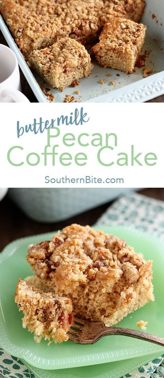 This Recipe For Buttermilk Pecan Coffee Cake Is So Easy And So Delicious It Ll Be Your New Favorite B Pecan Coffee Cake Buttermilk Recipes Coffee Cake Recipes