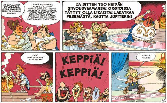 Asterix ja alppikukka. #sarjakuva #sarjis #roomalaiset #egmont
