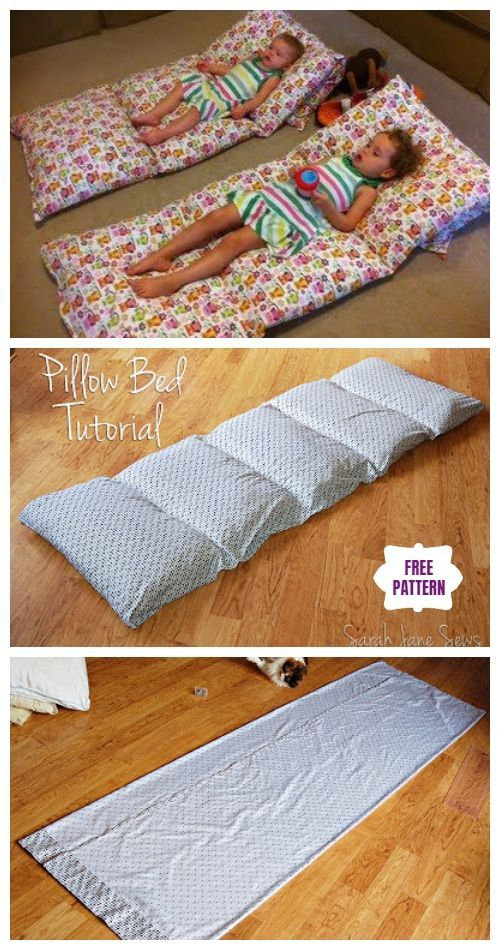Diy Simple Roll Up Pillow Bed Tutorial Video Floor Pillows Diy Kids Pillows Bed Floor Pillows Kids