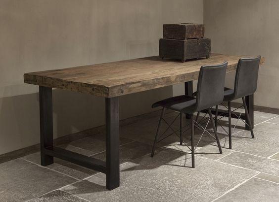 Eettafel rustiek oud hout | Woonland