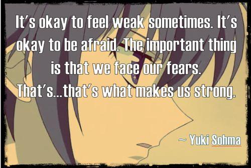 Yuki Sohma - Fruits Basket Quotes