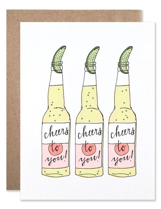 Three neon Corona beers with limes illustrated by Hartland Brooklyn