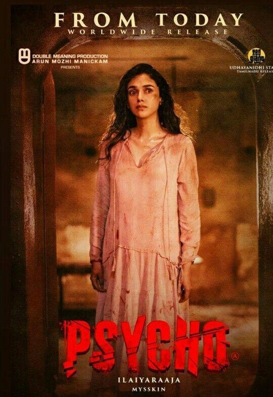 Aditi Rao Hydari On The Psycho Tamil Movie Poster Movies Movie Posters Bollywood Songs