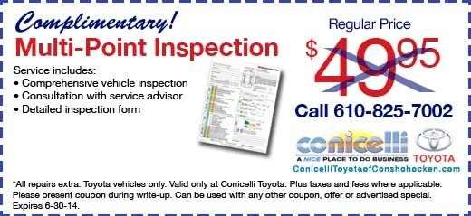Conicelli Hyundai Discount on Vehicle Service Motheru0027s Day Gift - vehicle inspection form