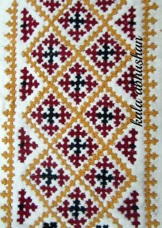 Kutch pattern embroidery work pinterest