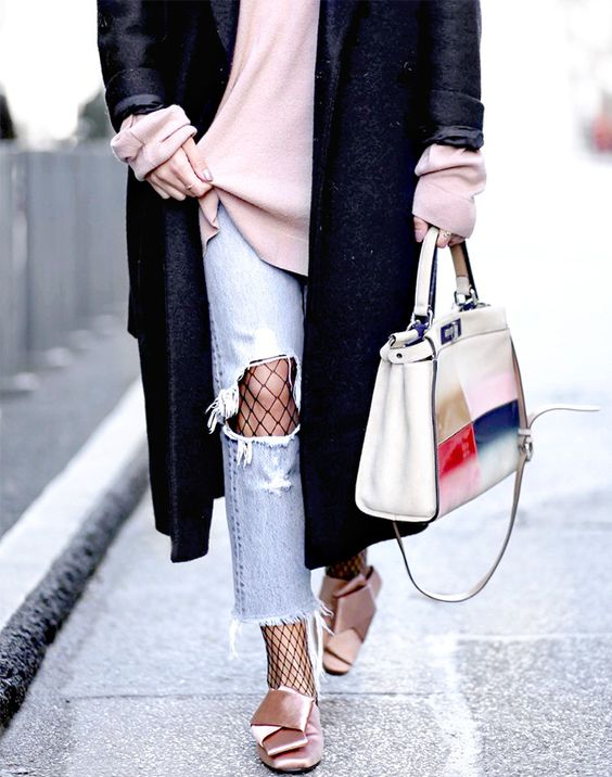 Dust off your fishnets and take out your distressed denim—this trend is In.: