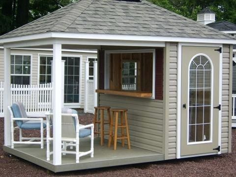 Garden Shed As Backyard Entertainment Area Sheds With Bathroom And Kitchen Bar Shed Pool Shed Backyard Shed