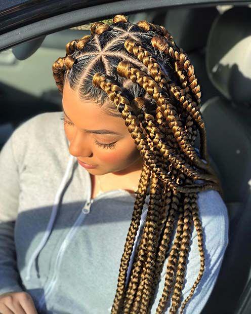 23 Cool Blonde Box Braids Hairstyles To Try Box Braids