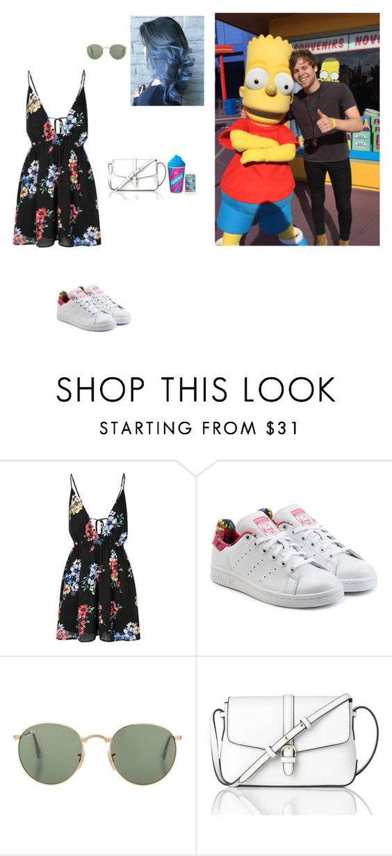 """Universal Studios with Luke"" by mindycox ❤ liked on Polyvore featuring Glamorous, adidas Originals and L.K.Bennett"