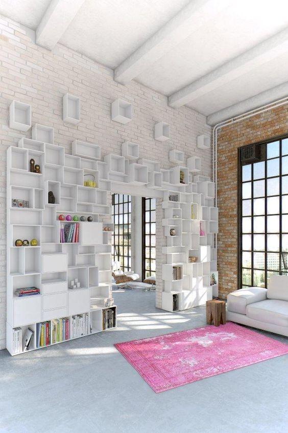 Regalsysteme Wohnzimmer Aufbewahrung-Bücher Sofa-weiß Wohnideen - bucherregal systeme presotto highlight wohnraum