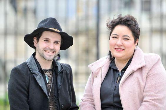 Mérida junto a su amiga Eugenia Prieto, quien integra la comisión de familias de Siendo Humanes. Mauro Alfieri - LA NACION