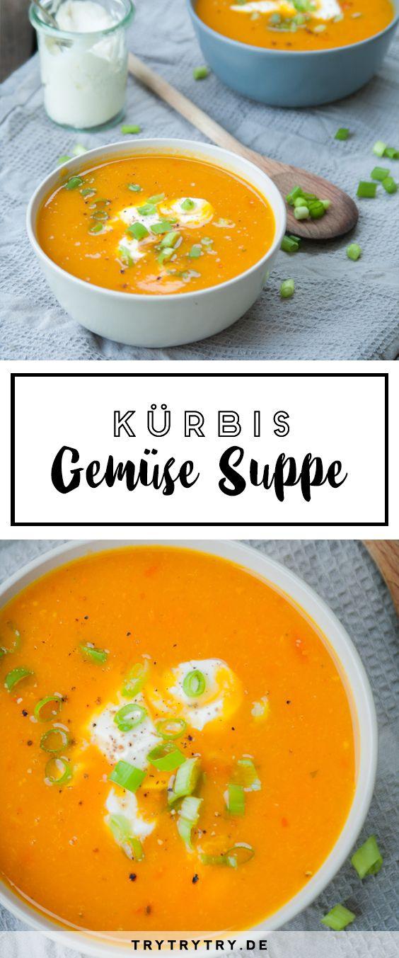 Kürbis-Gemüse-Suppe - Das leckerstes Rezept für den Herbst