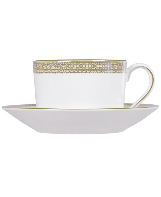 Vera Wang Wedgwood Dinnerware, Lace Gold Imperial Teacup