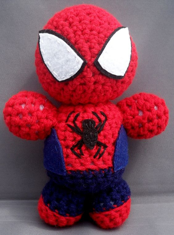 Crochet Amigurumi Spider : crochet stuffies Spiderman Crochet Doll Stuff I want ...