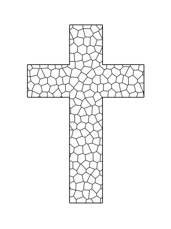 easter mosaic coloring pages - photo#25