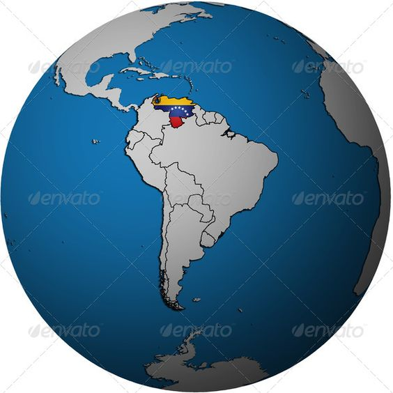 venezuela flag on globe map america atlas border – Globe Maps of the Earth