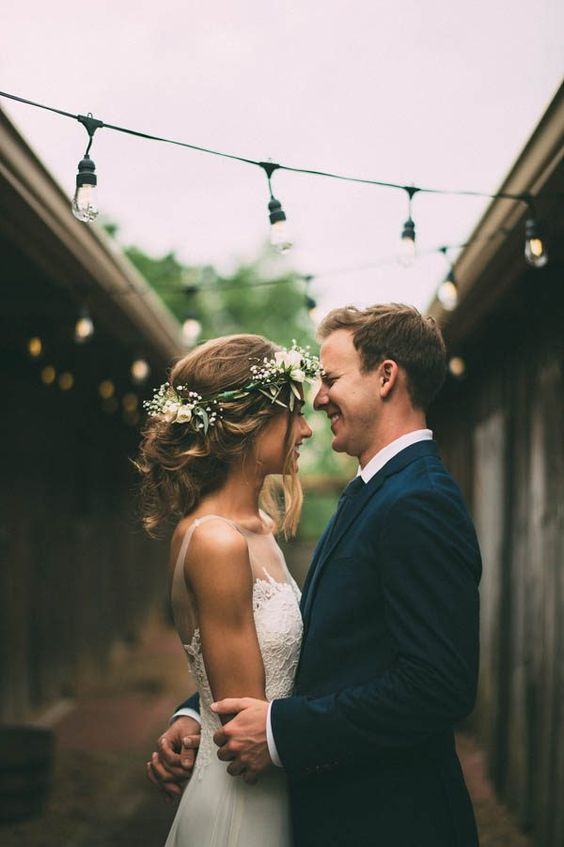 The most adorable rainy wedding portrait | The Image Is Found