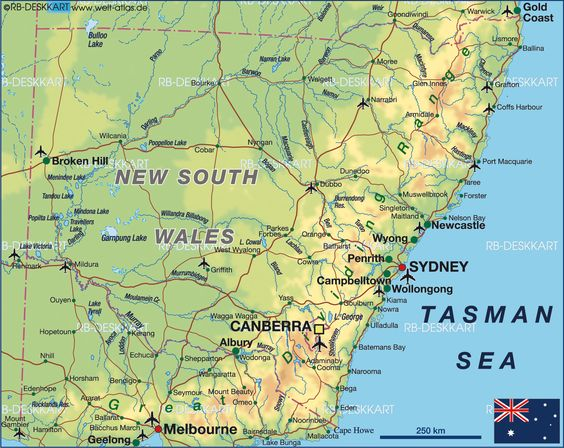 new south wales australia map – Eastern Australia Map