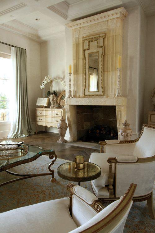 Classic French design in California. Bliss Design Firm.  Elegant Home  Pinterest  Glamorous