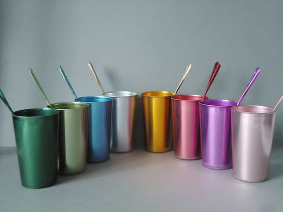 Retro Rainbow Bascal Tumblers and Stirrers  by SwirlingOrange11, $87.00
