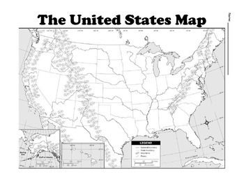 United States Map Bundle - Political and Physical Maps   TPT ...